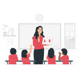back to school class day vector image vector image