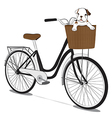 Bicycles and french bulldog Puppy vector image vector image