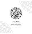 black circle abstract emblem vector image vector image