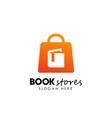 book stores logo design book shop icon design vector image