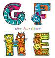 cat alphabet e f g h vector image vector image