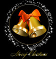 christmas bells with bows vector image vector image
