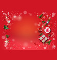 christmas festive template card vector image vector image