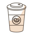 coffee plastic cup isolated icon vector image vector image