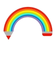 Colored pencil in shape of rainbow Isolated Flat vector image vector image