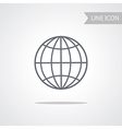 Conceptual line icon of globe vector image