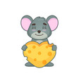 cute mouse with hearth vector image vector image