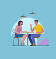 date at cafe a young man and woman are vector image vector image