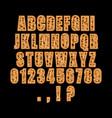 decorative alphabet font vector image vector image