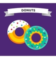 Donut icons isolated vector image vector image