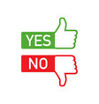 dos and donts like thumbs up or down flat simple vector image vector image