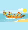 dragon boat racing horizontal banner vector image