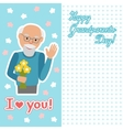 drawing of icon elderly man with vector image vector image