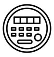 electric energy meter icon outline style vector image