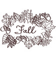fall with leaves silhouettes vector image vector image