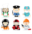 famous professions vector image vector image