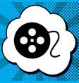 film circular sign black icon in bubble vector image