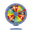 fortune wheel icon flat style vector image vector image