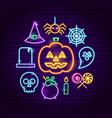 halloween neon concept vector image vector image