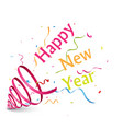 happy new year background with ribbon vector image