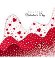 happy valentines day greeting card holiday vector image vector image