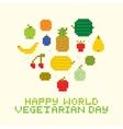 Happy world vegetarian day vector image vector image
