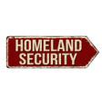 homeland security rusty metal sign vector image