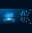 internet things iot and networking vector image vector image