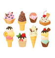 isolated ice cream 5 vector image vector image
