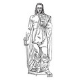 john hampden sculpture is an english politician vector image vector image