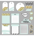 Journaling planner card notes and tags vector image