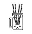 kawaii juice bottle vector image