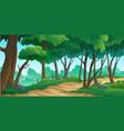 landscape forest daytime vector image vector image