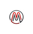 letter m circular logo design concept template vector image vector image
