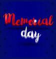 memorial day banner vector image vector image