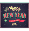 New year typographic design vector image vector image