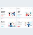 online customer support service modern concept vector image