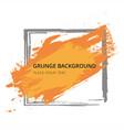 orange hand paint artistic dry brush stroke grunge vector image