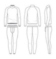 outline drawing templates of sports clothing set vector image