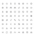 outline icons for web and mobilethin stroke icons vector image