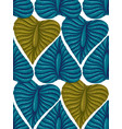 pattern with vintage exotic tropical leaves vector image