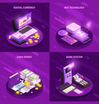 Payment methods isometric design concept