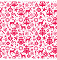 red christmas seamless pattern background vector image vector image