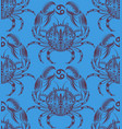 Repaint seamless pattern crab