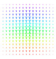seed sprout icon halftone spectral grid vector image