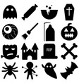 set of halloween objects pumpkins and lettering vector image vector image