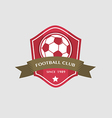 Soccer Football Badge and ribbon vector image