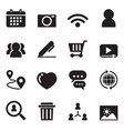 social network icon set vector image vector image