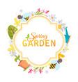spring garden design frame vector image