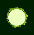 st patricks day green shamrock clovers vector image vector image